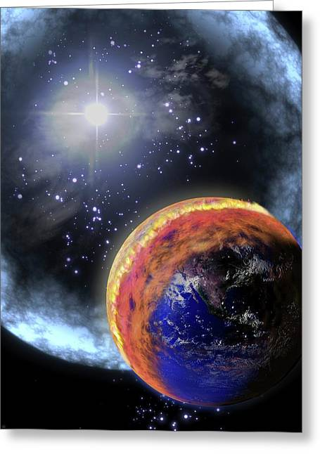 Gamma Ray Extinction Event Greeting Card by Nasa