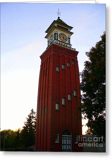 Gananoque Clock Tower Greeting Card