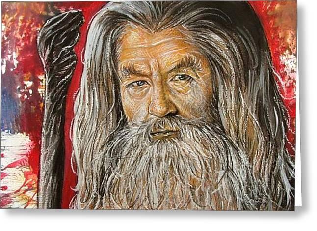 Gandalf Greeting Card by Anastasis  Anastasi
