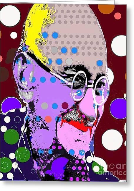 Gandhi Greeting Card by Ricky Sencion