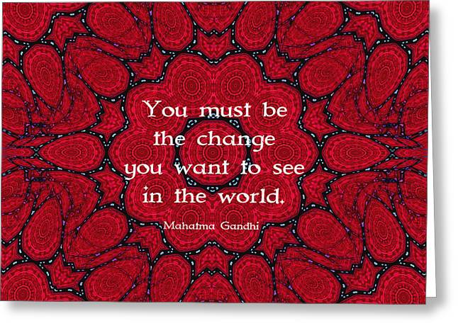 Gandhi Wisdom Quotation About Action Greeting Card by Quintus Wolf