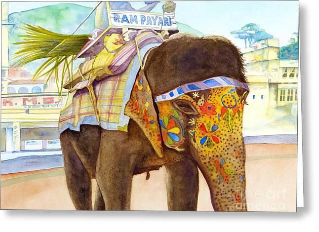 Ganesh Greeting Card by Amanda Schuster