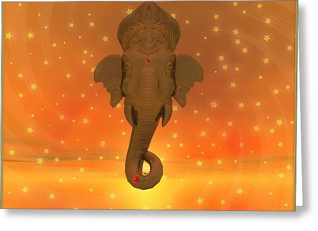 Ganesh II Greeting Card by Harald Dastis
