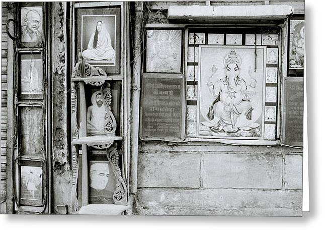 The Indian Street Greeting Card by Shaun Higson