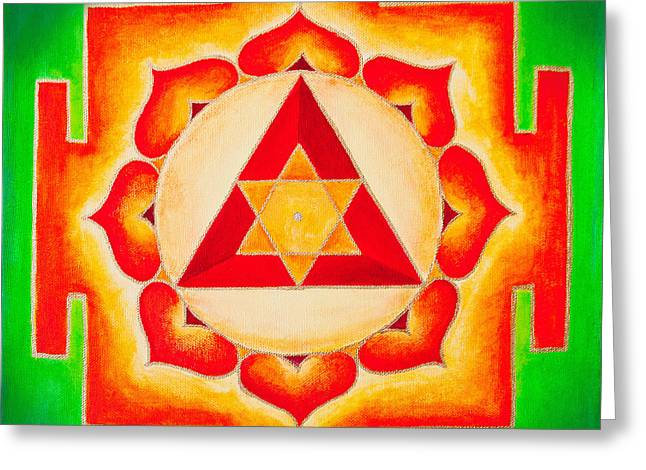 Ganesh Yantra Is A Powerful Tool That Removes All The Obstacles Greeting Card
