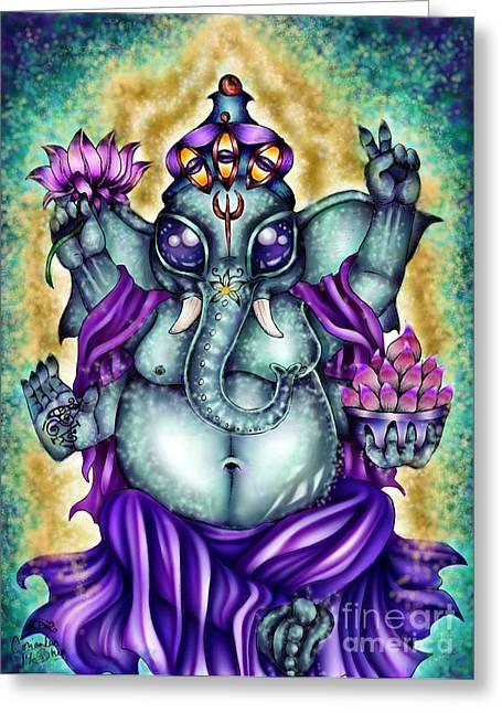 Ganesha Greeting Card by Coriander  Shea