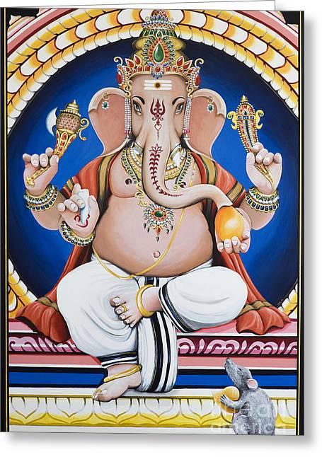 Ganesha Painting Greeting Card