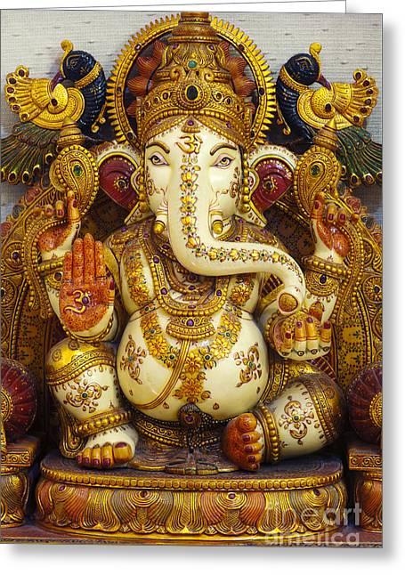 Ganesha  Greeting Card by Tim Gainey