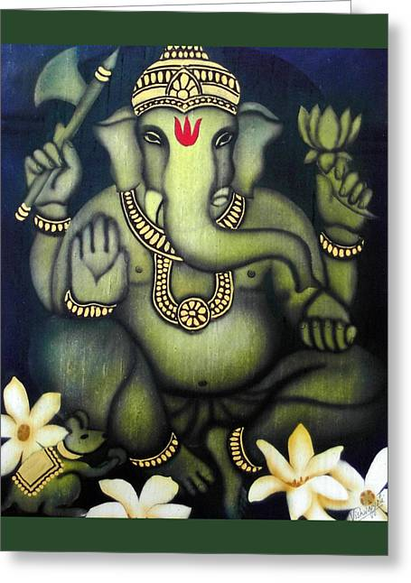 Ganesha Greeting Card by Vishwajyoti Mohrhoff