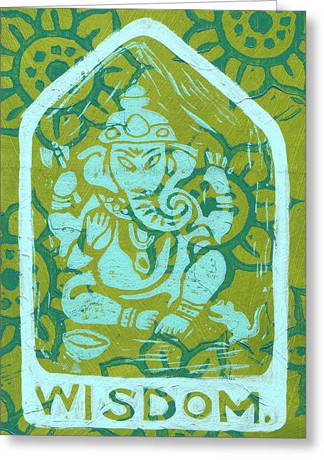 Ganesha Wisdom  Greeting Card by Jennifer Mazzucco