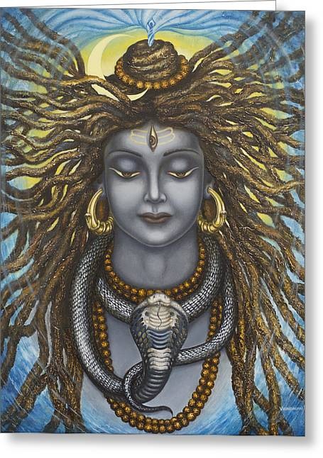 Gangadhara Shiva Greeting Card by Vrindavan Das