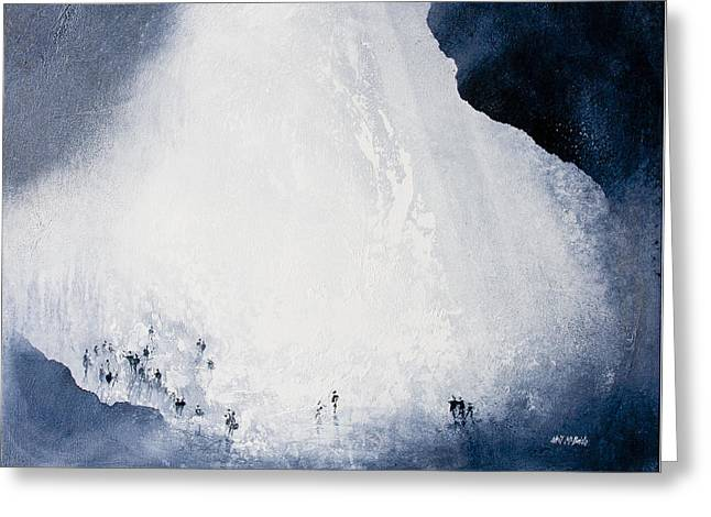Gaping Gill Yorkshire By Neil Mcbride Greeting Card by Neil McBride