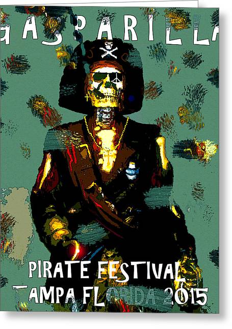Gasparilla Pirate Fest 2015 Full Work Greeting Card by David Lee Thompson