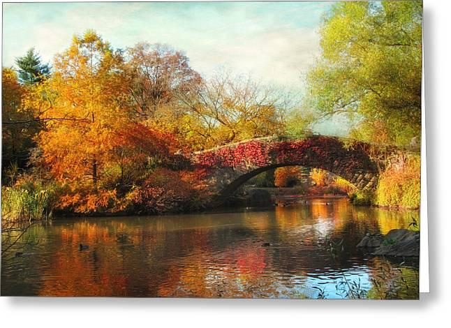 Gapstow Bridge In Autumn Greeting Card