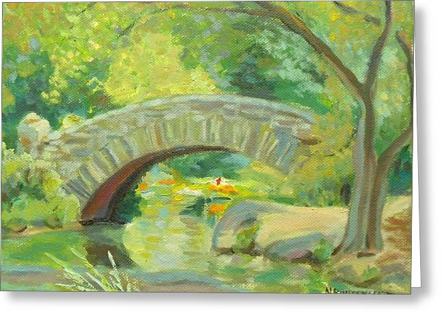 Gapstow Bridge Ny Greeting Card