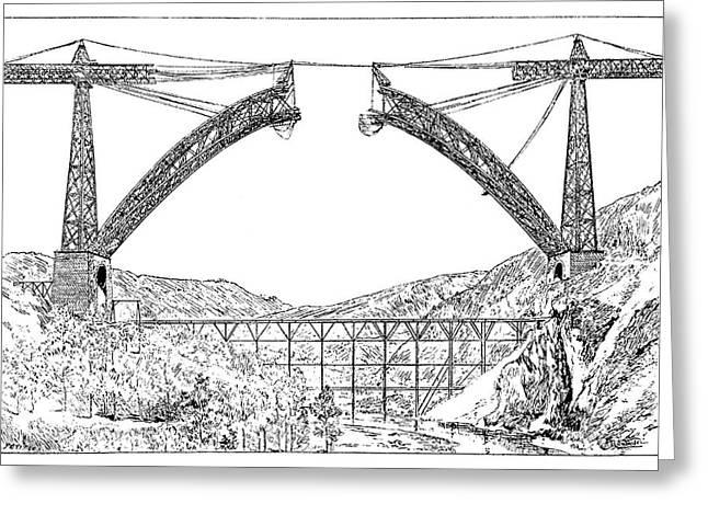 Garabit Viaduct Greeting Card