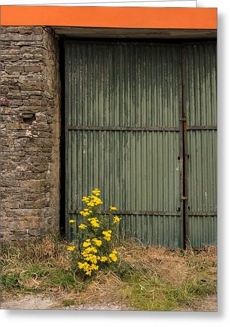Garage Door In Ennistymon Greeting Card