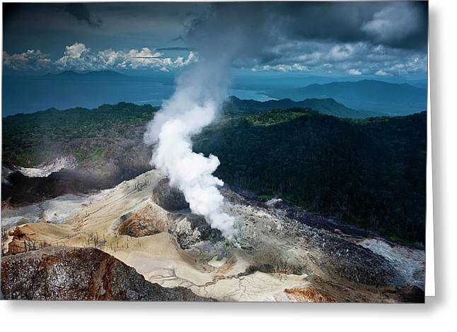 Garbuna Volcano On Willaumez Peninsula Greeting Card