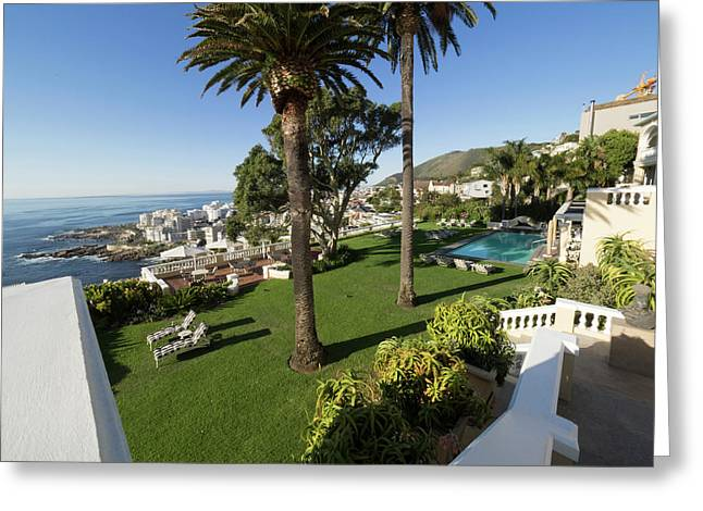 Garden And Pool Of Ellerman House Greeting Card