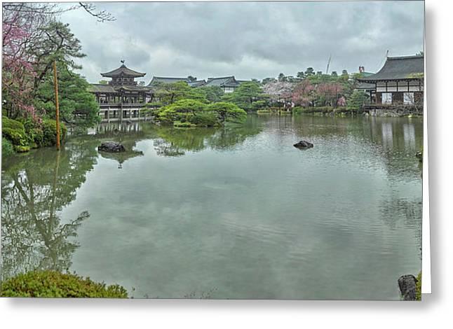 Garden At Heian Shrine, Sakyo-ku Greeting Card by Panoramic Images