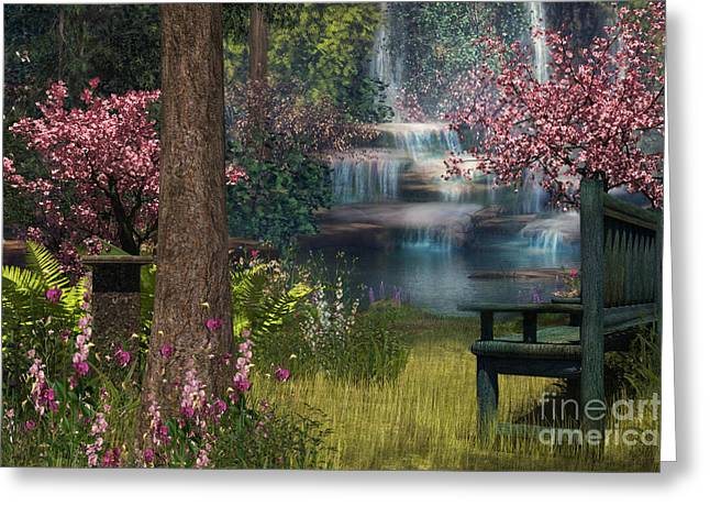 Garden Background Greeting Card