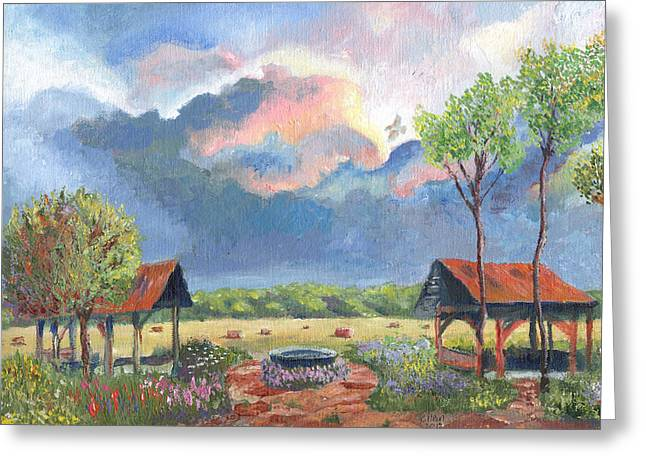 Garden Before The Storm Greeting Card by William Killen