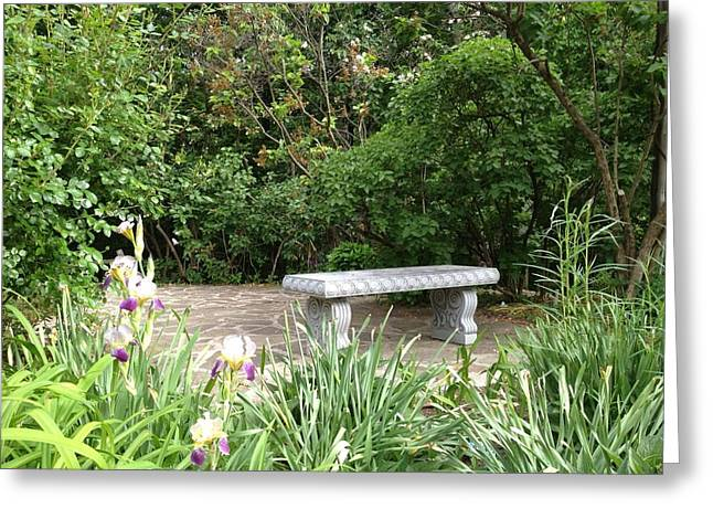 Garden Bench Greeting Card