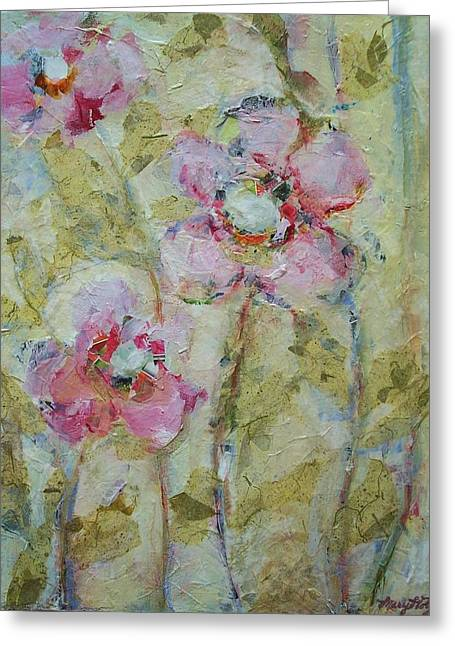 Greeting Card featuring the painting Garden Bliss by Mary Wolf