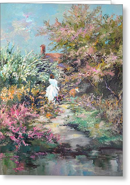Garden By The Water Greeting Card by Steven Nevada
