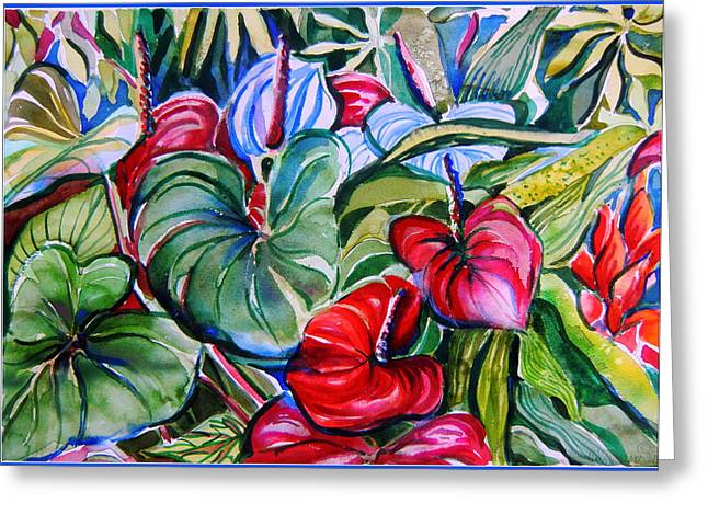 Garden Candles Greeting Card by Mindy Newman