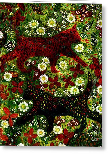 Garden Cats Greeting Card