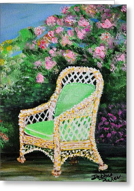 Garden Chair Greeting Card by Debbie Baker