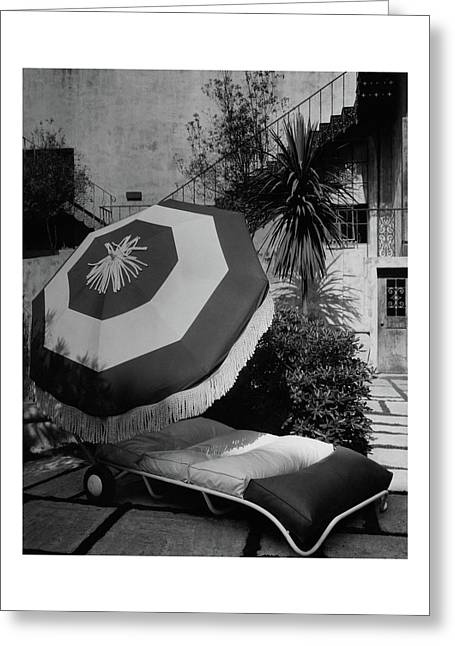 Garden Chaise Lounge Greeting Card