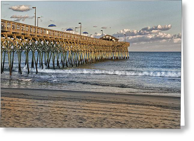 Garden City Pier At Sunset Greeting Card