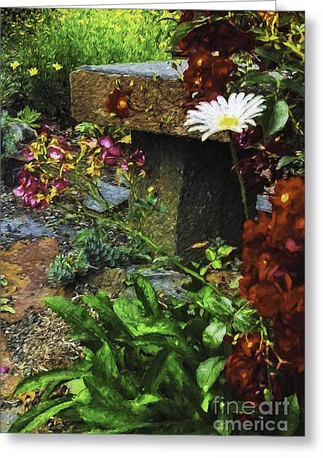 Garden Color Greeting Card by Nancy Marie Ricketts