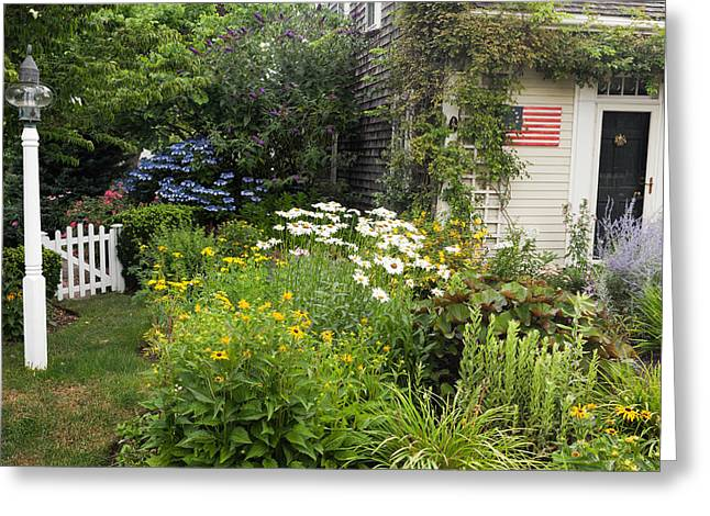 Garden Cottage Greeting Card by Bill Wakeley