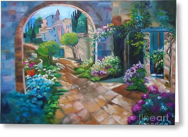 Garden Courtyard Greeting Card