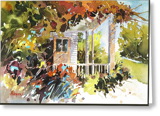 Garden Delight Greeting Card by Rae Andrews