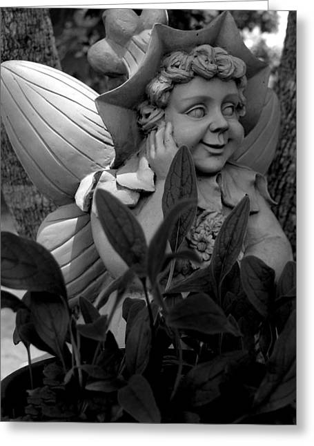 Garden Fairy Statue Greeting Card
