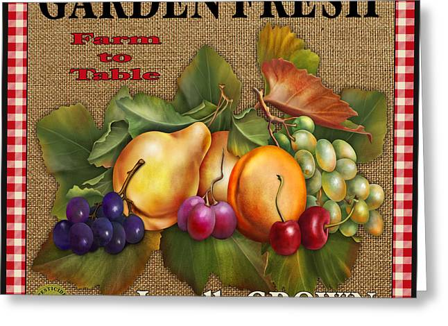 Garden Fresh-jp2386 Greeting Card by Jean Plout