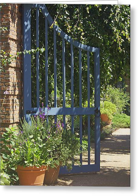Greeting Card featuring the photograph Garden Gate by Kathleen Scanlan