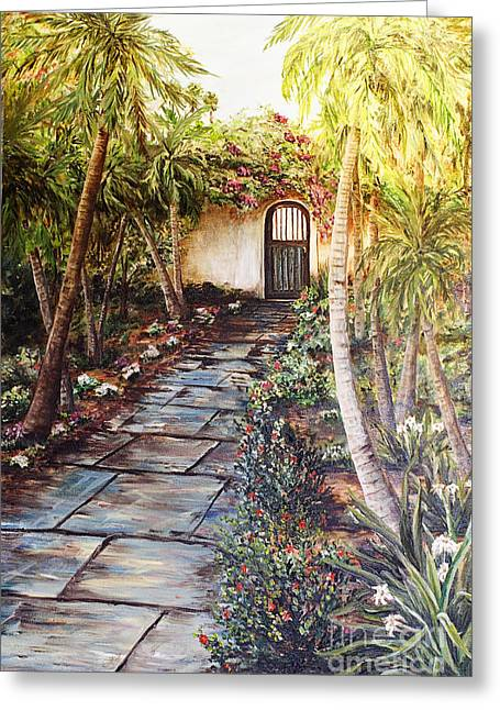 Garden Gate To Rosemary's Cottage Greeting Card