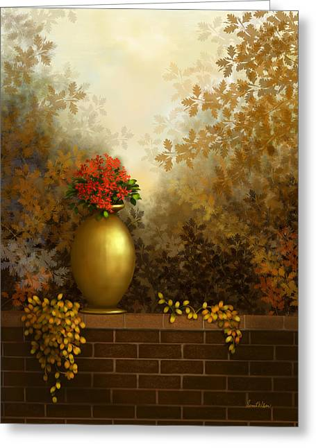 Garden Golds Greeting Card