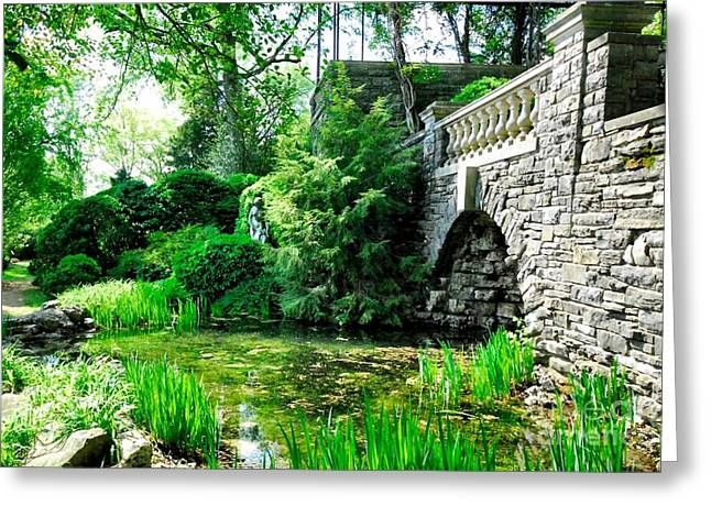 Garden Grotto Greeting Card by Donald Groves