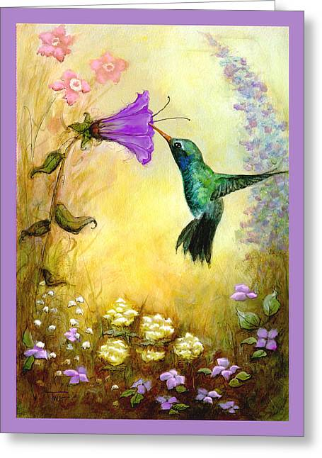 Garden Guest In Lavender Greeting Card