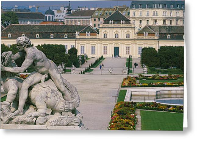 Garden In Front Of A Palace, Belvedere Greeting Card by Panoramic Images