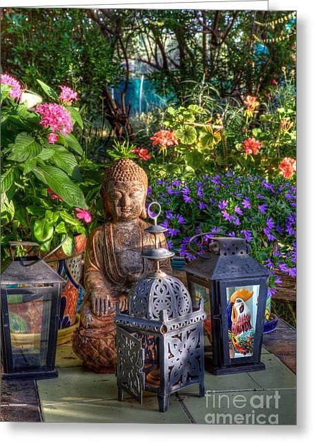 Garden Meditation Greeting Card