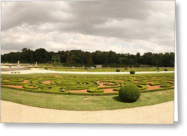 Garden Of A Castle, Chateau De Greeting Card by Panoramic Images