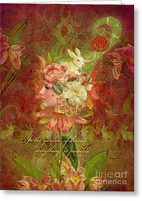 Garden Of Dreams Greeting Card by Aimee Stewart