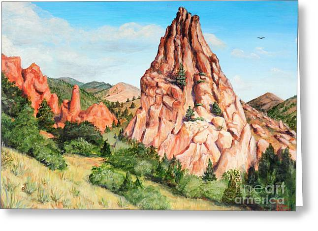 Kindergarten Rock - Garden Of The Gods Greeting Card